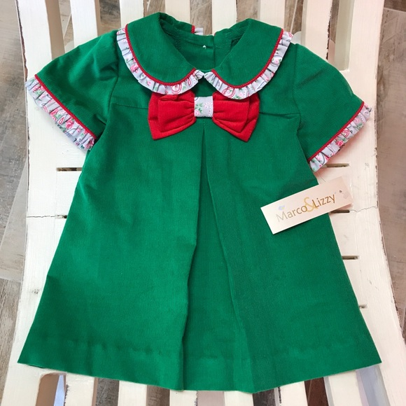 Other - Marco and Lizzy Christmas Green Corduroy Dress